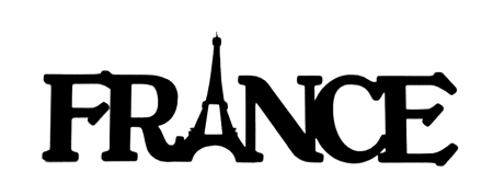 France Scrapbooking Laser Cut Title with Eiffel Tower