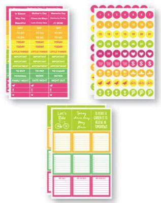 Plan It Scrapbooking Stickers