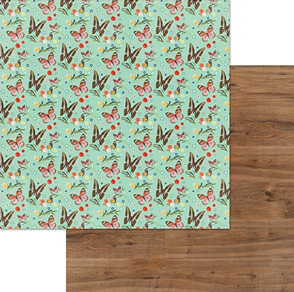 Free Spirit Double Sided 12x12 Scrapbooking Paper
