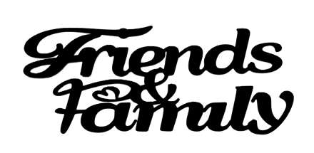 Friends and Family Scrapbooking Laser Cut Title