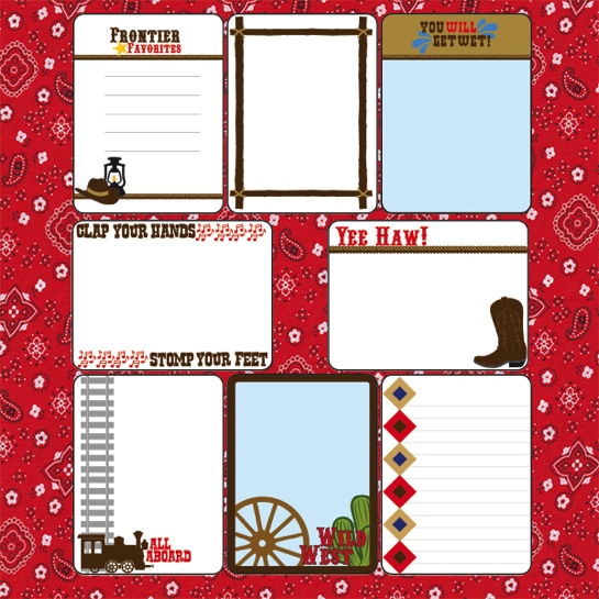 Frontier Land 12x12 Scrapbooking Journaling Paper