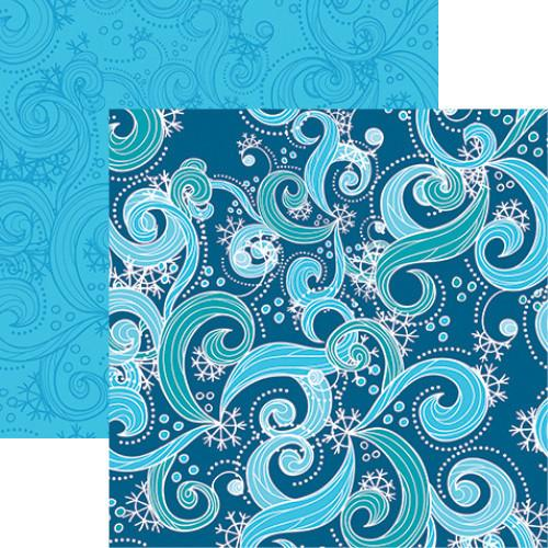 Frosty Wind 12x12 Double Sided Scrapbooking Paper