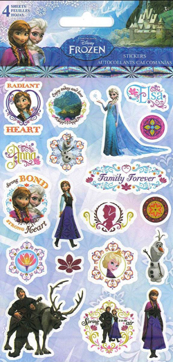 Frozen Disney Scrapbooking Stickers - Four Sheets