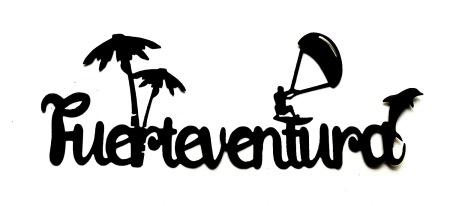 Fuerteventura Scrapbooking Laser Cut Title with icons