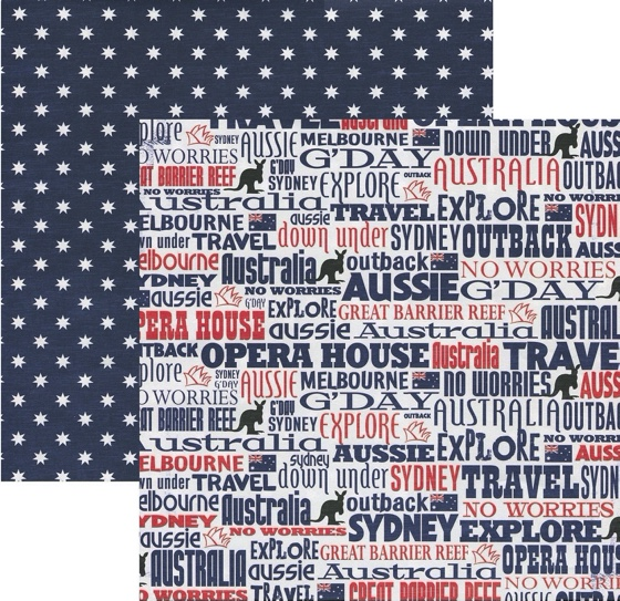 G'Day 12x12 Double Sided Scrapbooking Paper