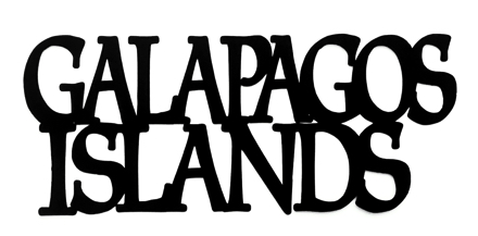 Galapagos Islands Scrapbooking Laser Cut Title