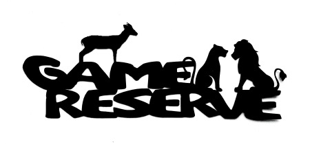 Game Reserve Scrapbooking Laser Cut Title with Animals