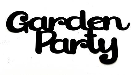 Garden Party Scrapbooking Laser Cut Title