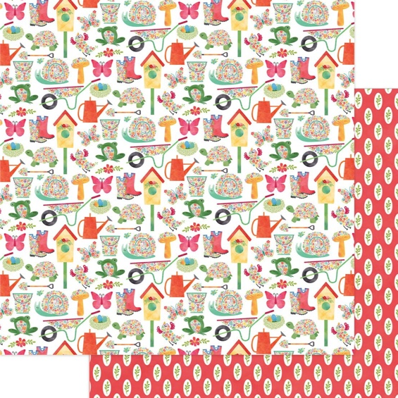 Garden Double Sided 12x12 Scrapbooking Paper