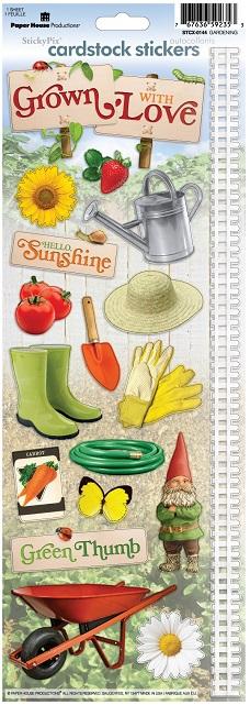 Gardening Cardstock Scrapbooking Stickers