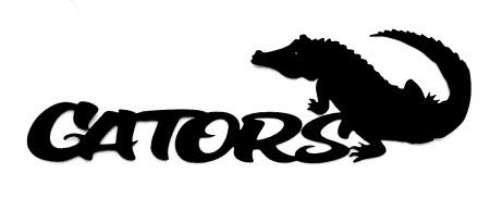 Gators Scrapbooking Laser Cut Title with Aligator