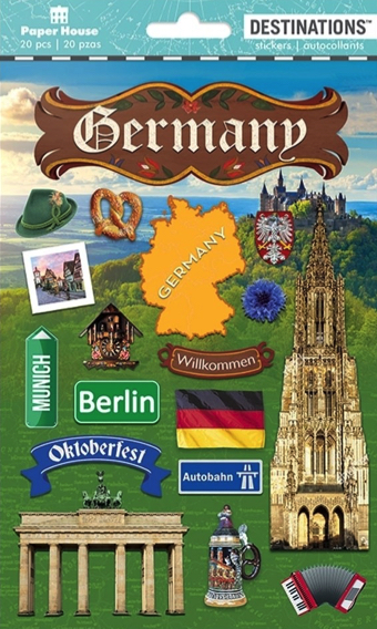 Germany 2D Scrapbooking Stickers