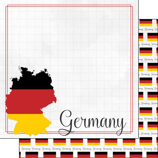 Germany 12x12 Double Sided Scrapbooking Paper