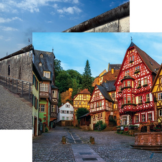 German Old Town 12x12 Double Sided Scrapbooking Paper