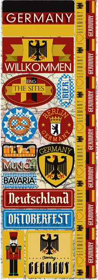 Germany Cardstock Scrapbooking Stickers and Borders