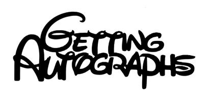 Getting Autographs Scrapbooking Laser Cut Title