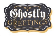 Ghostly Greetings Scrapbooking Die cut Sticker
