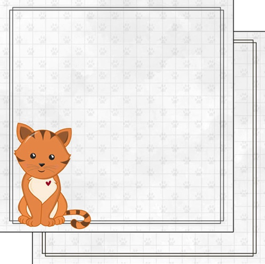 Ginger Cat 12x12 Double Sided Scrapbooking Paper