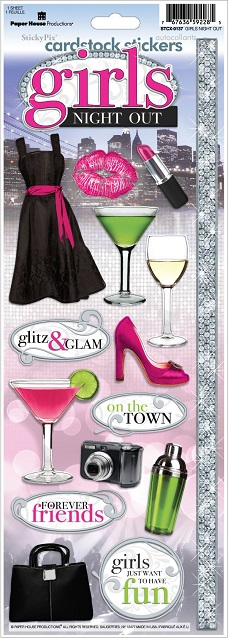 Girls Night Out Cardstock Scrapbooking Stickers