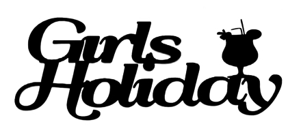 Girls Holiday Scrapbooking Laser Cut Title with Cocktail