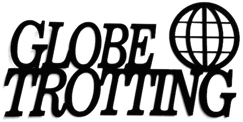 Globe Trotting Scrapbooking Laser Cut Title and shape