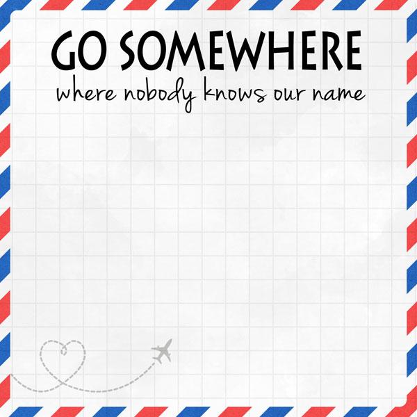 Go Somewhere 12x12 Scrapbooking Paper