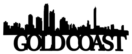 Gold Coast Scrapbooking Laser Cut Title with Skyline