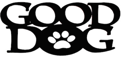 Good Dog Scrapbooking Laser Cut Title with Paw Print