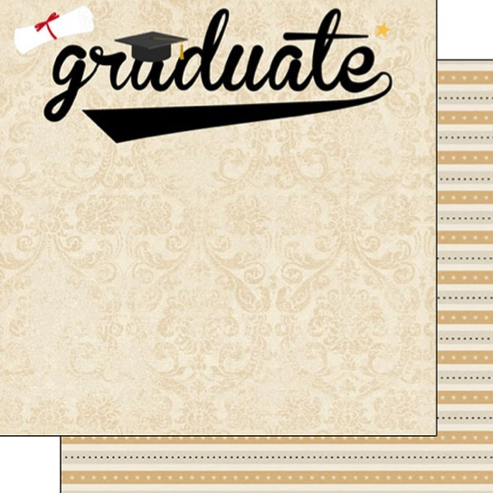 Graduate 12x12 Double Sided Scrapbooking Paper