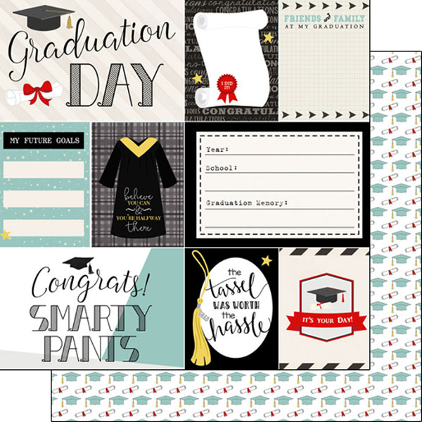 Graduation Day Journal 12x12 Double Sided Scrapbooking Paper