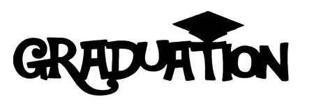 Graduation Scrapbooking Laser Cut Title with mortar board