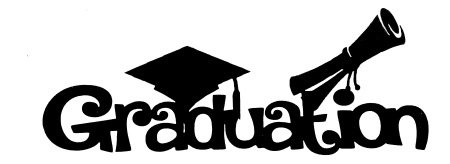 Graduation Scrapbooking Laser Cut Title with Icons