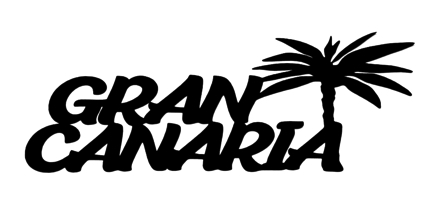 Gran Canaria Scrapbooking Laser Cut Title with Palm