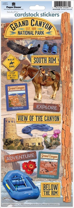 Grand Canyon Cardstock Scrapbooking Stickers