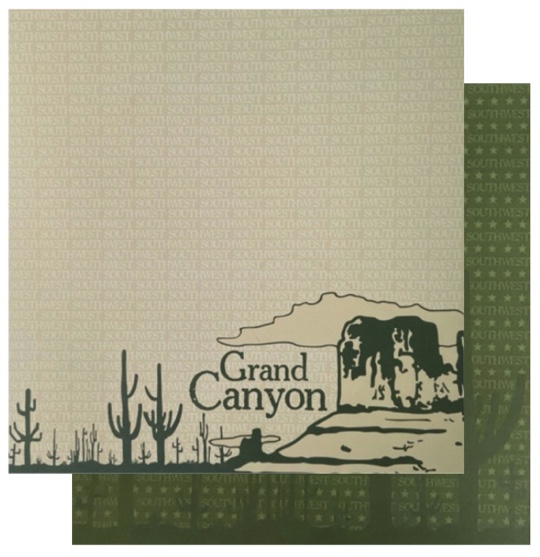 The Southwest Grand Canyon 12x12 Double Sided Scrapbooking Paper