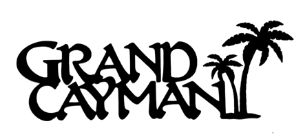 Grand Cayman Scrapbooking Laser Cut Title with Palm Trees