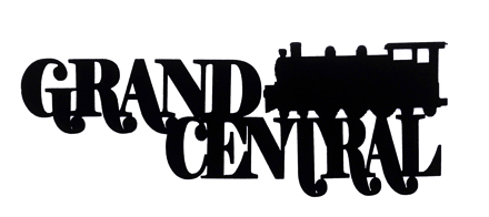 Grand Central Scrapbooking Laser Cut Title with train