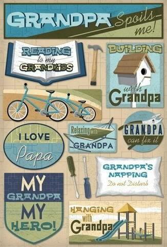 Grandpa Cardstock Scrapbooking Stickers