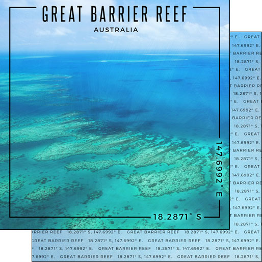 Great Barrier Reef 12x12 Double Sided Scrapbooking Paper
