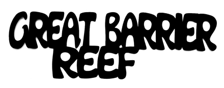 Great Barrier Reef Scrapbooking Laser Cut Title
