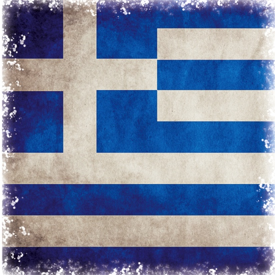 Greece Flag 12x12 Scrapbooking Paper