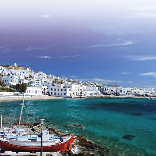 Greek Harbour Mykonos 12x12 Scrapbooking Paper