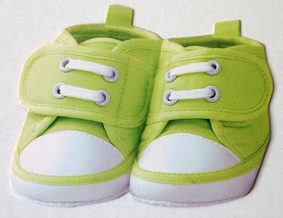 Green Baby Shoes Scrapbooking Die Cut