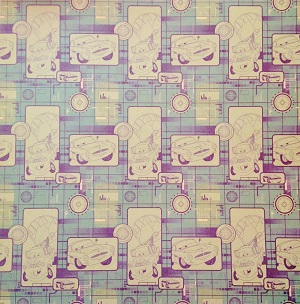 Green Cars 12x12 Scrapbooking Paper