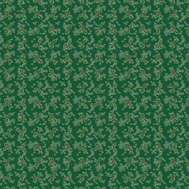 Green Holly 12x12 Scrapbooking Paper