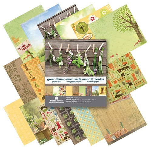 Green Thumb Mini Scrapbooking 36 Page Paper Pad