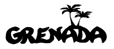 Grenada Scrapbooking Laser Cut Title with Palm Trees