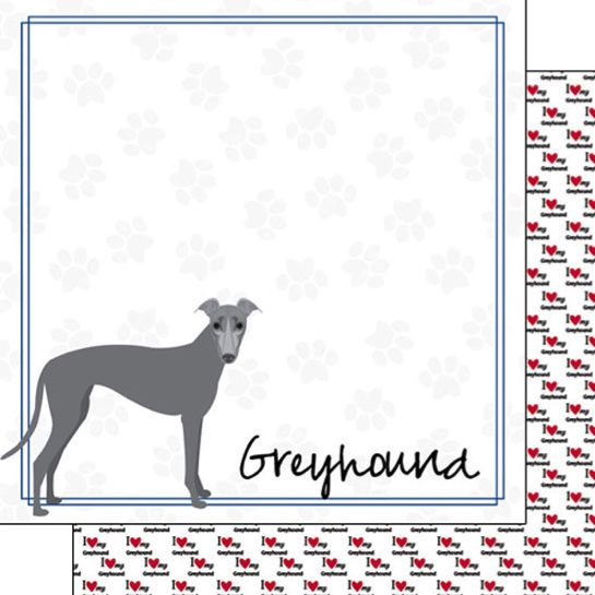 Greyhound 12x12 Double Sided Scrapbooking Paper