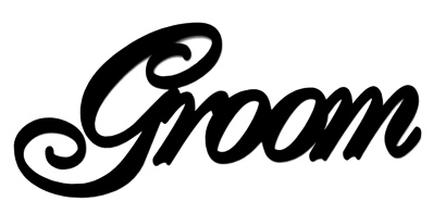 Groom Scrapbooking Laser Cut Title