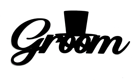 Groom Scrapbooking Laser Cut Title with top hat